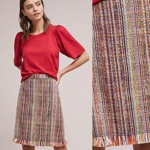 NWT ANTHROPOLOGIE Zaira Tweed A-Line Skirt